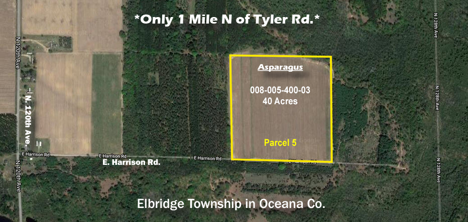 asparagus farm land for sale